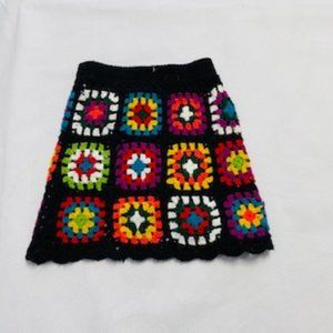 Ragdoll and Rockets Crochet Skirt size 4